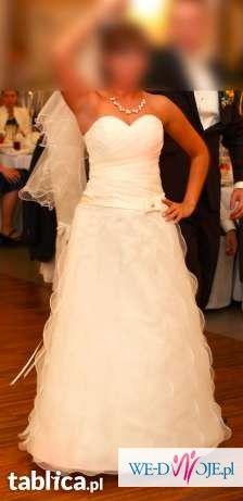 Suknia Ślubna, piękna - zwiewna - delikatna