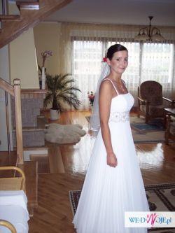 suknia ślubna plisowana