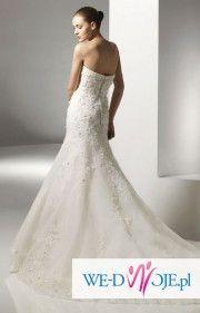 Suknia ślubna podkreślająca figurę