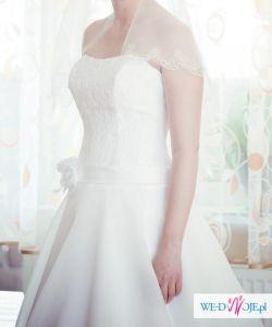 Suknia Ślubna Princessa Elizabeth + Welon +Bolerko