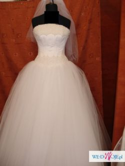 Suknia Ślubna ''Princessa'' z perłami - jedyna w swoim rodzaju, piękna