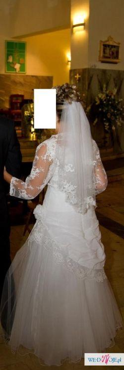 Suknia ślubna (projekt autorski dopasowany)