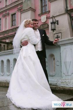 suknia ślubna r.38 firma herms