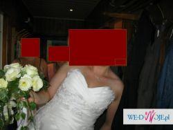 suknia ślubna r. 44 uk 16