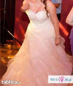Suknia ślubna, ręcznie zdobiona. Cena do negocjacji!