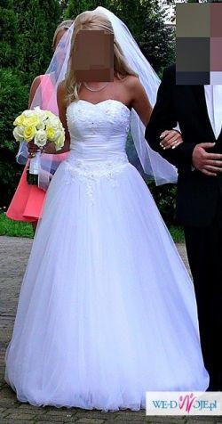 Suknia ślubna, romiar 36 + GRATISY !!