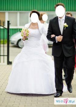 Suknia ślubna roz. 36/38 + gratisy