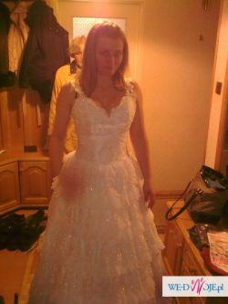 Suknia Ślubna roz.36-38 w stylu Hiszpańskim