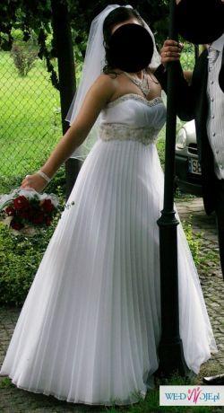 suknia slubna roz. 38
