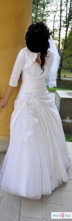 Suknia slubna roz.38-40 la belle boutique