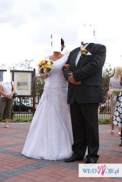 suknia ślubna roz.42+ welon