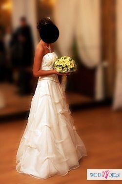Suknia ślubna rozm.34-36 Zakupiona w salonie