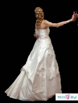 Suknia ślubna rozm. 34 na 6 m-c ciąży. SUPER CENA!!!!