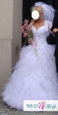 Suknia ślubna rozm 36 Pierzasta