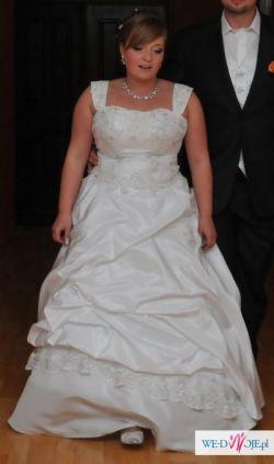 Suknia ślubna rozm. 38-42 + 2 bolerka + welon + ozdoby do włosów 1000 zł do nego