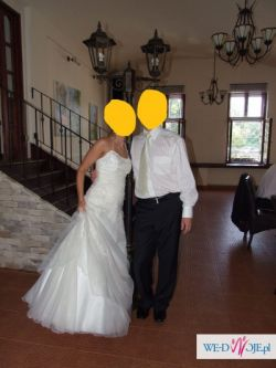 Suknia ślubna rozmiar 34 - ecri ,stan idealny