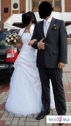 Suknia ślubna rozmiar 36+ bolerko+ welon -Polecam