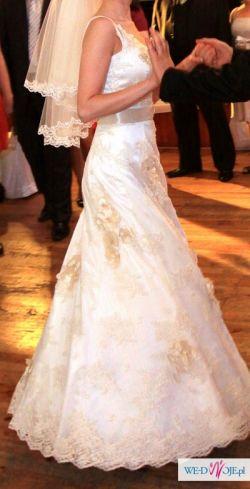 suknia ślubna rozmiar 36 +welon gratis