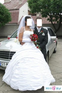 Suknia ślubna, rozmiar 38/40, biała cena 500 zł