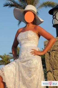Suknia Ślubna rozmiar 38 Koronka Hiszpańska