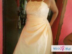 suknia ślubna rozmiar 40/42 gratis welon bolerko rękawiczki