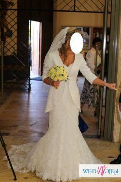 Suknia ślubna, rybka, La Sposa Mullet 36/38, naturalna biel