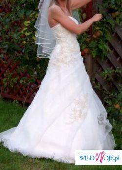 Suknia ślubna Sara Ms Moda Ecru w rozm.38