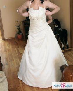 Suknia ślubna SARAH ecru (szyta na miarę na wysoką -180cm, rozm. 40)
