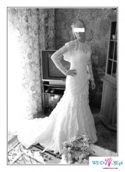 Suknia ślubna  Sarah Wedding z prawdziwej koronki
