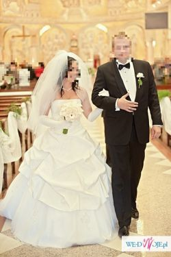 suknia ślubna Scarlett Madame Zaręba z dodatkami