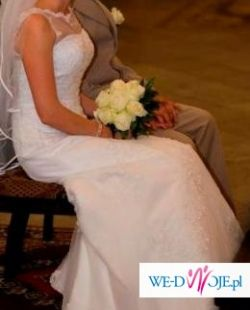 Suknia ślubna SINCERITY 3143, śnieżnobiała