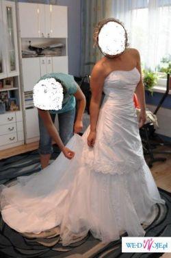 Suknia Ślubna, Sincerity 3511, kolor biały