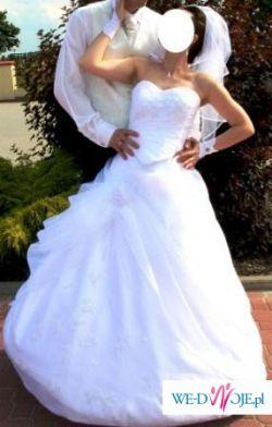 Suknia ślubna śnieżna - dodatki wszystkie gratis