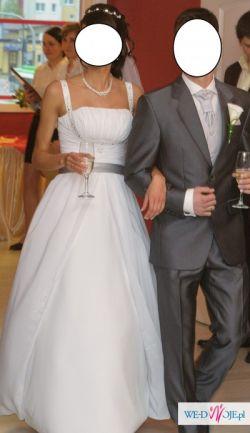 suknia ślubna śnieżno biała 36