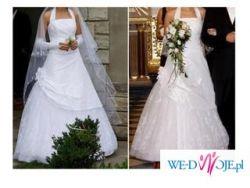 Suknia ślubna śnieżnobiała