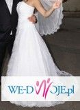 Suknia ślubna śnieżnobiała, koronka,  Agora +bolerko 700zl