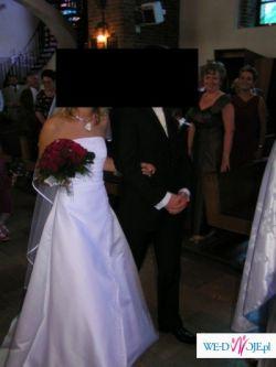 Suknia ślubna śnieżnobiała rozm. 36/38 !!!