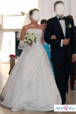 Suknia ślubna SONDIC biała + dodatki