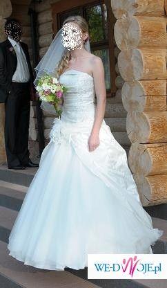 Suknia ślubna SPOSA, bolerko, buty