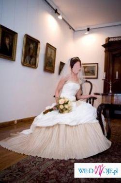 suknia ślubna SPOSABELLA 518 rozm. 36-38 ecru-capucino