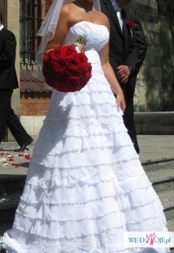 Suknia ślubna - STAN IDEALNY - rozmiar 36
