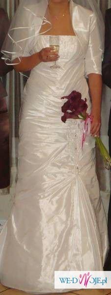 Suknia ślubna- syrena- piękna- roz. 38-40 warto!