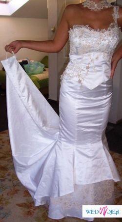 suknia śłubna syrena wąska