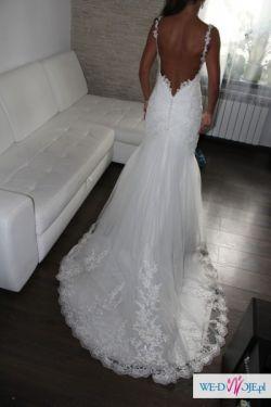 Suknia ślubna Syrenka Bez Pleców R 3638 Sm Madonna Suknie