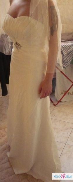 Suknia Ślubna Szweckiej marki, 36-38 Ivory