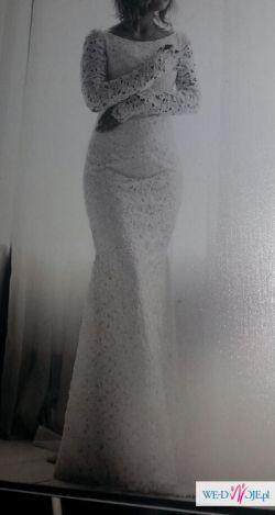 Suknia ślubna szyta na wzór Berty 2014 - rybka, koronka