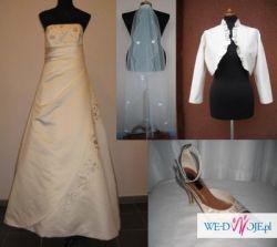 Suknia Ślubna tania Pronovias 44+ dużo gratisów