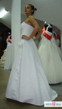 Suknia ślubna TANIO !!! biała 36/38 litera A, koronka