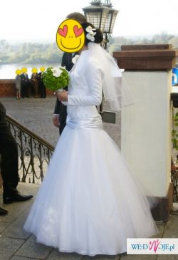 suknia ślubna tiulowa,stylowa,elegancka