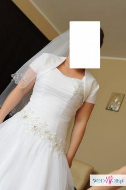 suknia ślubna typ księżniczka, rozmiar 38